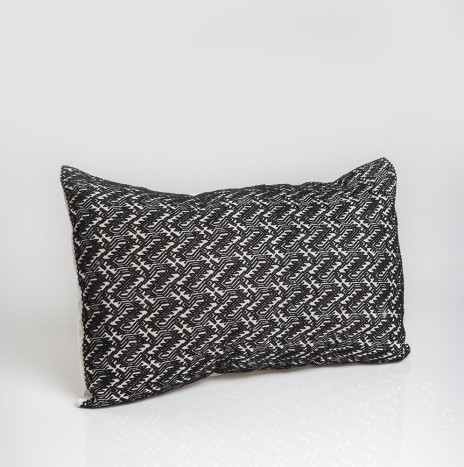 BLACK AND LITTLE WHITE PILLOW COVER