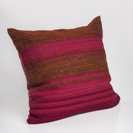 RED TONES AND MUSTARD PILLOW COVER