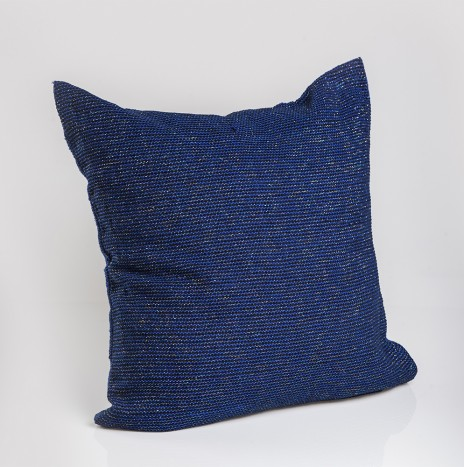 SHINY BLUE PILLOW COVER
