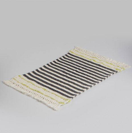 HANDWOVEN STRIPED COTTON PLACEMATS SET