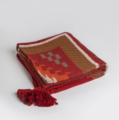 Ethnic Pattern Alpaca Throw