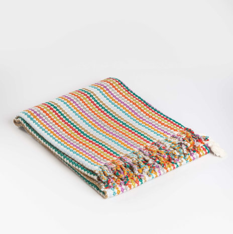 MULTICOLOR ALPACA THROW