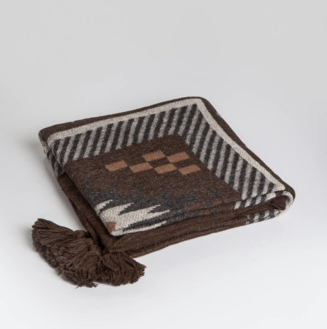 Brown Alpaca Throw