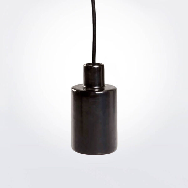 Barro negro can pendant lamp gray background picture.