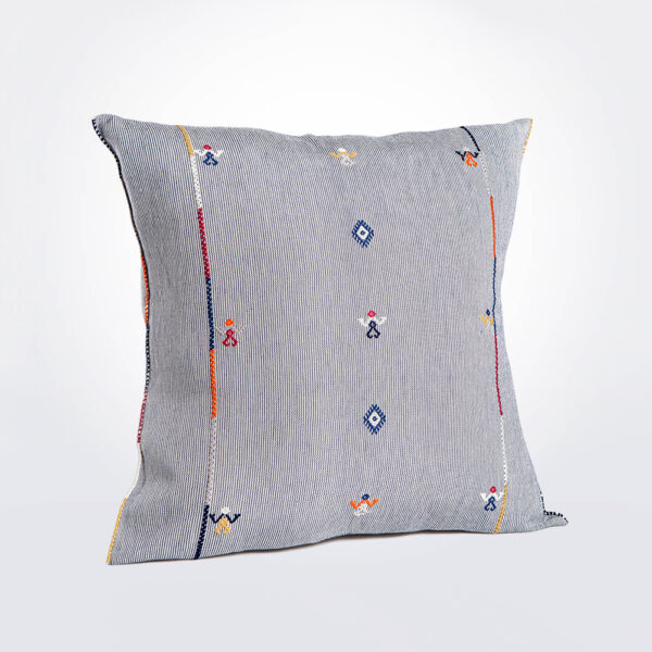 Blue mexican pillow cover product photo.