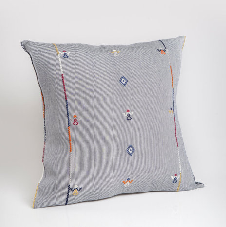 BLUE MEXICAN PILLOW COVER