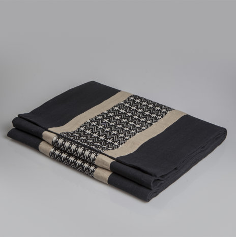Cotton Black Table Runner