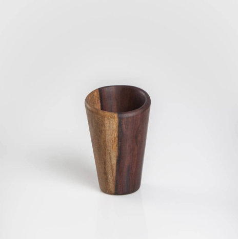 DARK WOOD DRINKING CUP SET
