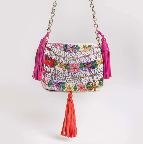 EMBROIDERED ROKI BAG III