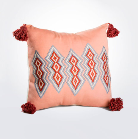 Guatemalan Pink Pillow Cover
