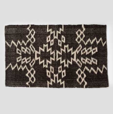 MAYAN DARK BROWN WOOL RUG