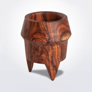 Large wooden pot product picture.