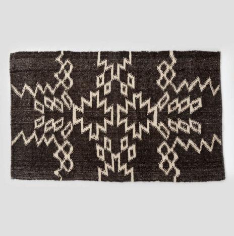 Mayan Dark Brown Wool Rug