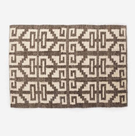 Mayan Light Brown Wool Rug