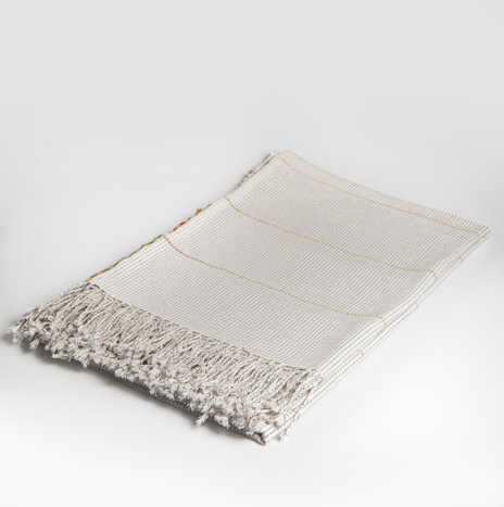 Mexican Hand Woven Tablecloth / Coverlet
