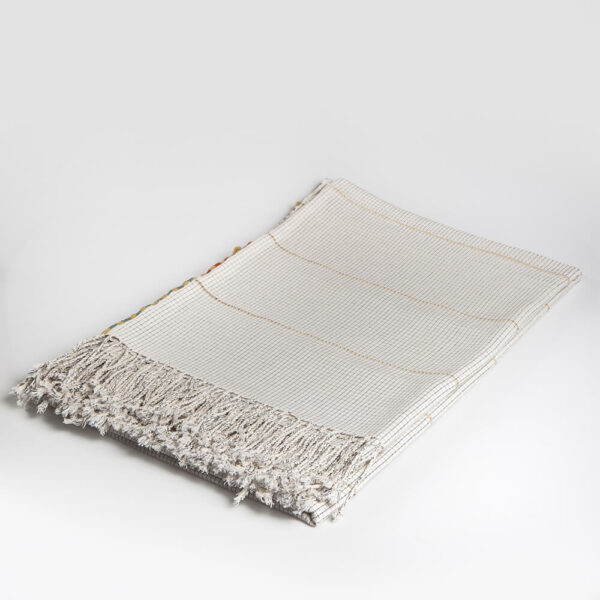 Mexican hand woven tablecloth coverlet.