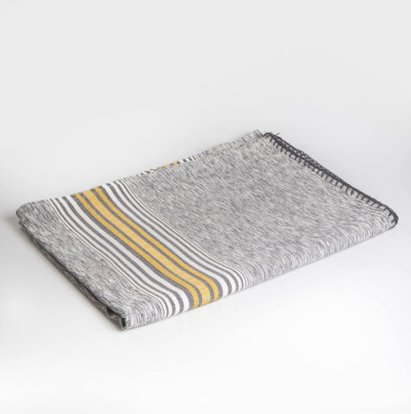 MEXICAN JASPE GRAY TABLECLOTH / COVERLET