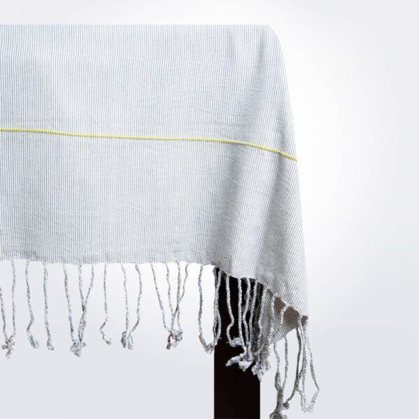 Mexican handwoven tablecloth product picture.