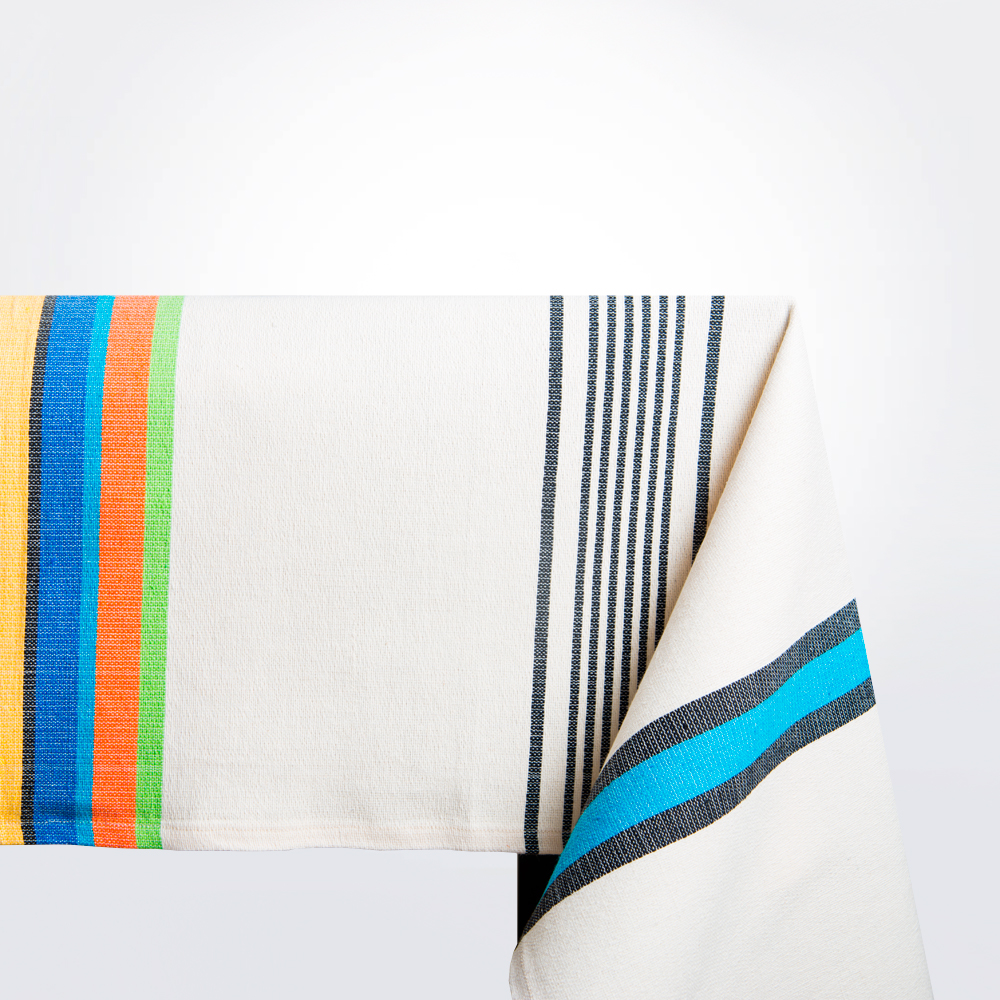 Multicolor-cotton-tablecloth-coverlet