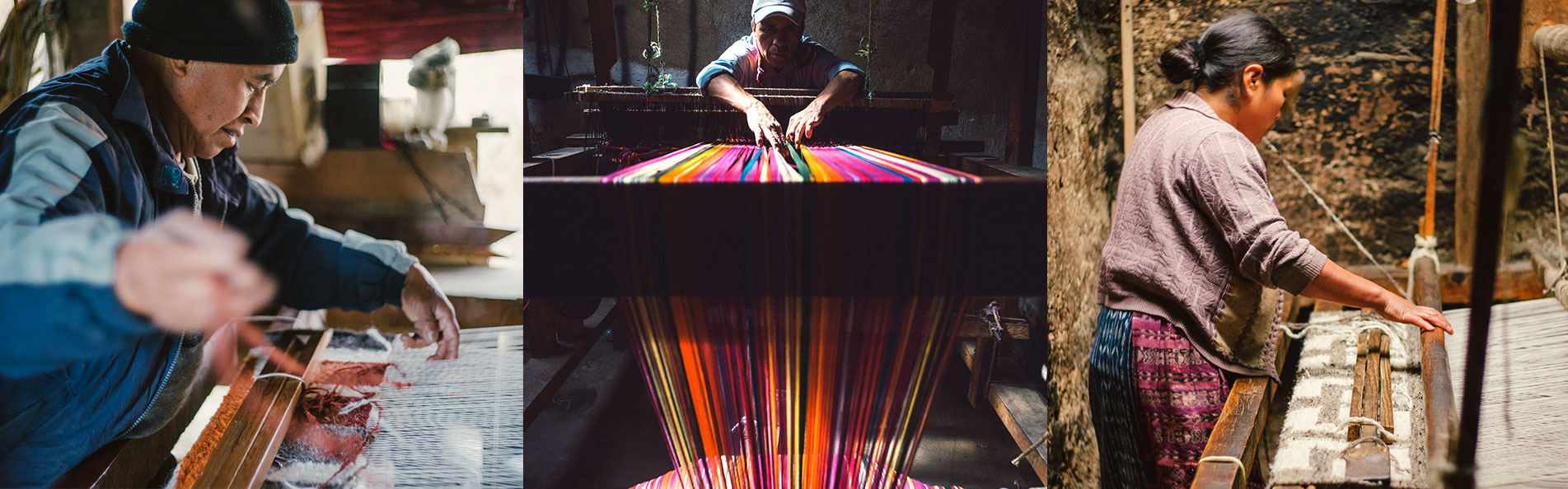 Artisans making process.