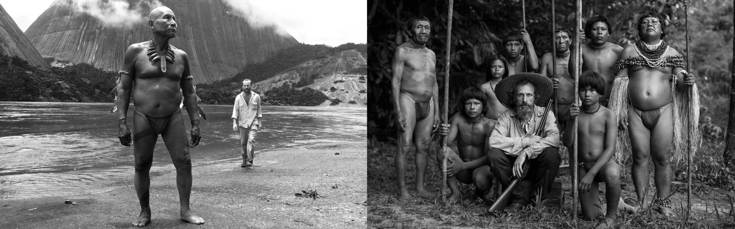 Black and white photo of indigenous people.