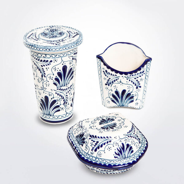 Talavera pottery set.