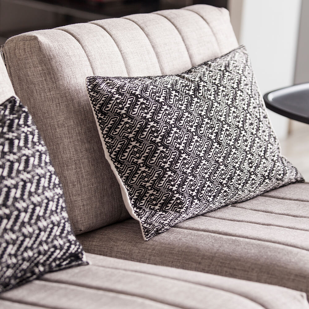 White-and-black-pillow-cover