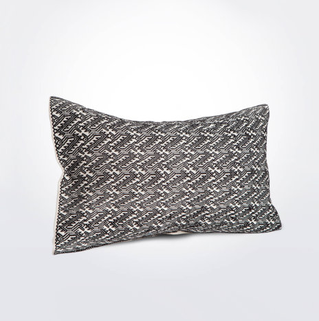 White and Black Pillow Cover