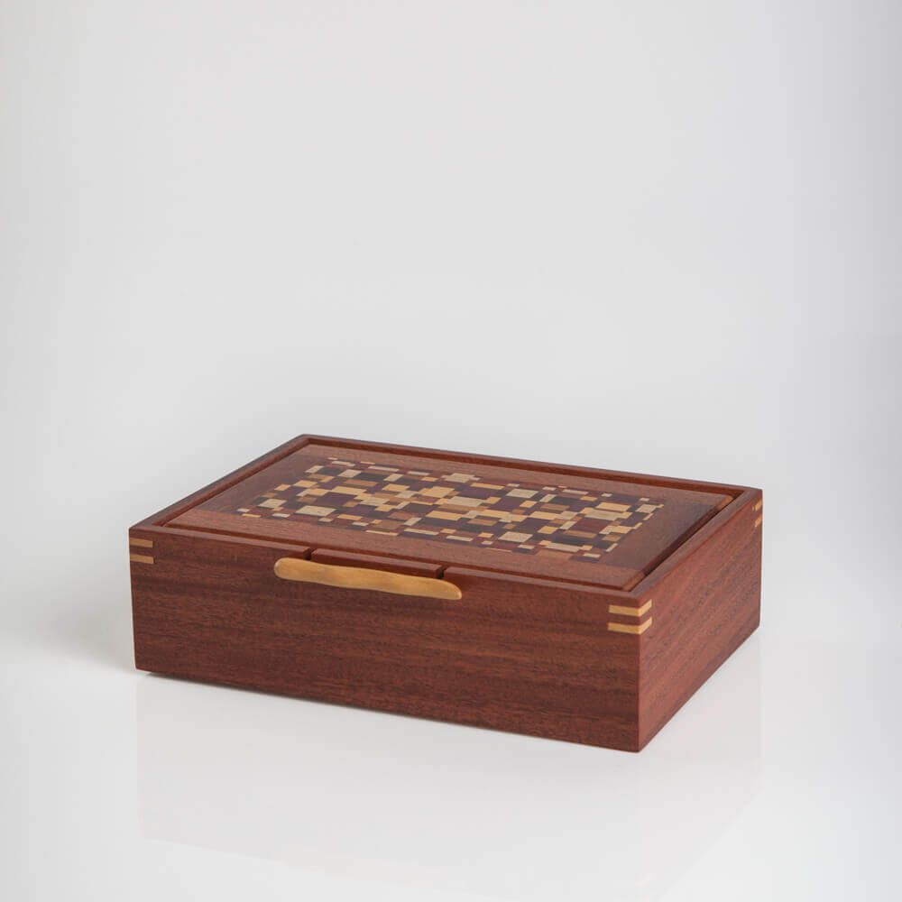 WOOD BOX WITH HANDLE 17