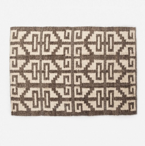 MAYAN LIGHT BROWN WOOL RUG