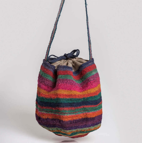 STRIPED SISAL BAG