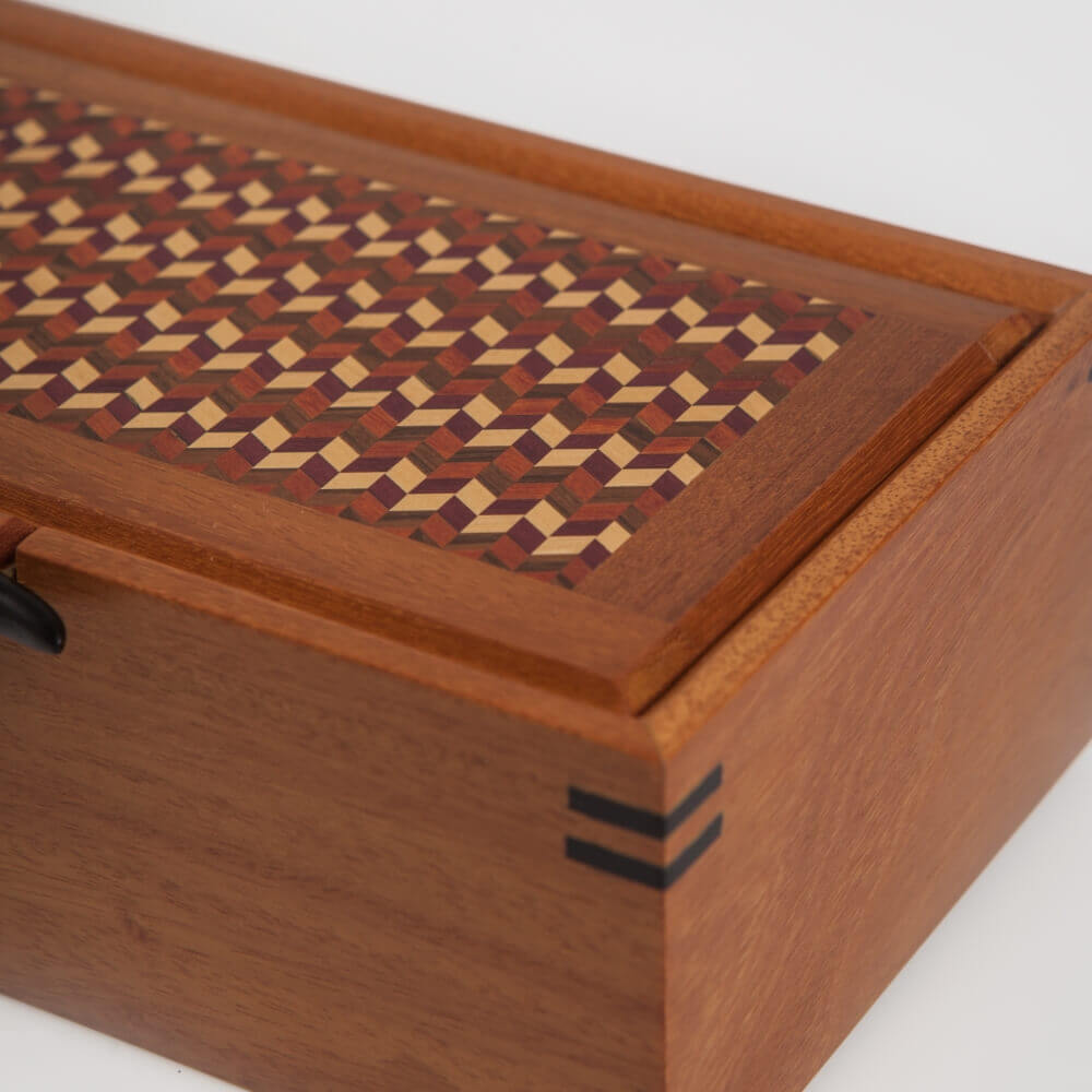WOOD BOX WITH HANDLE 10