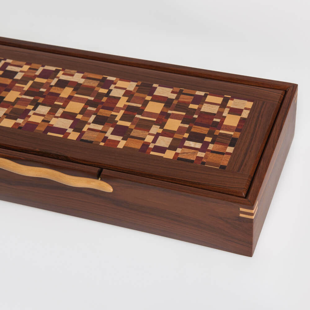 WOOD BOX WITH HANDLE 6