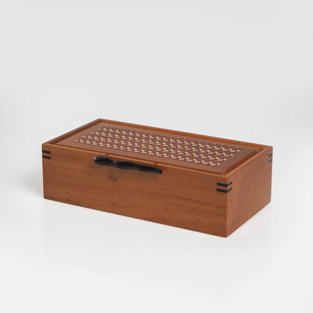 WOOD BOX WITH HANDLE 8