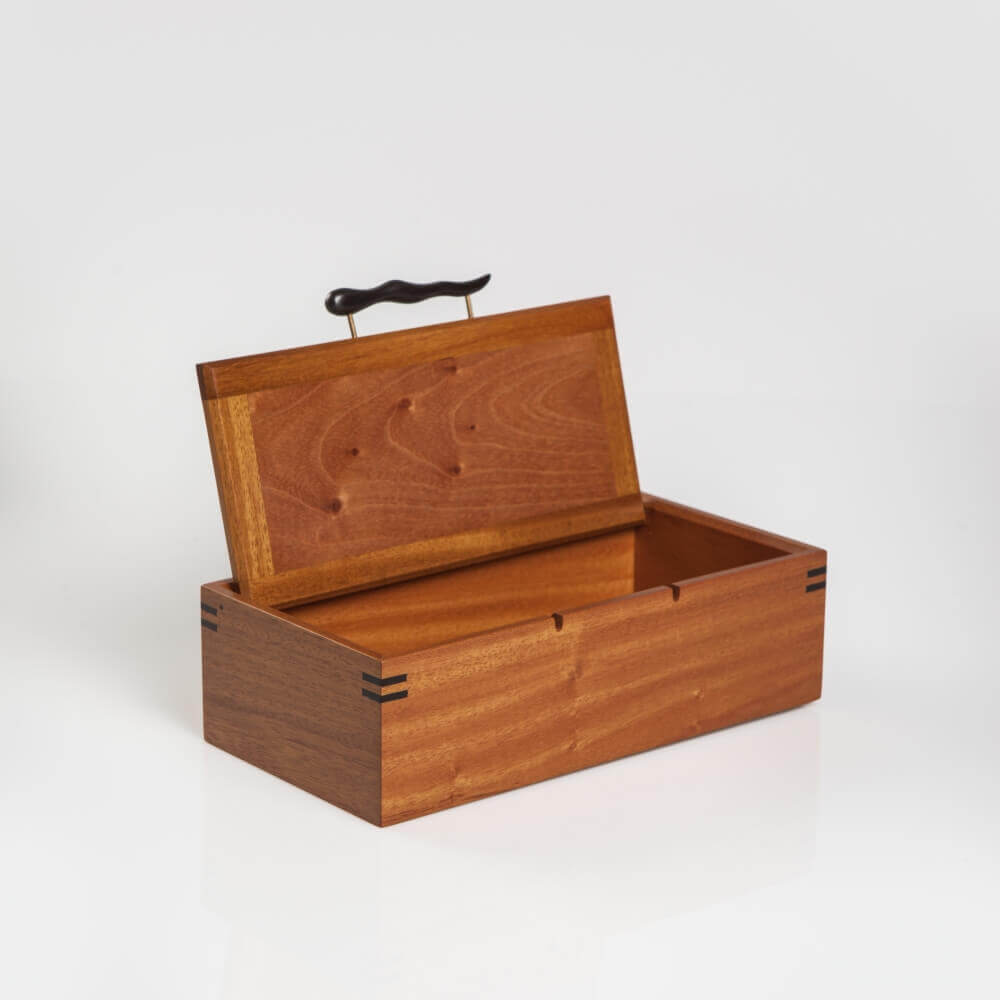 WOOD BOX WITH HANDLE 9