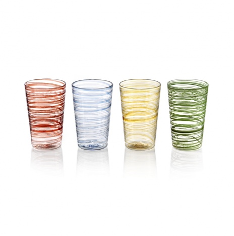 COLORED GLASS SET