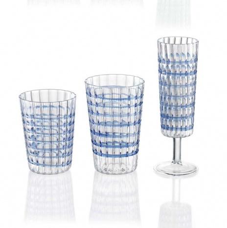 COBALT GLASS SET