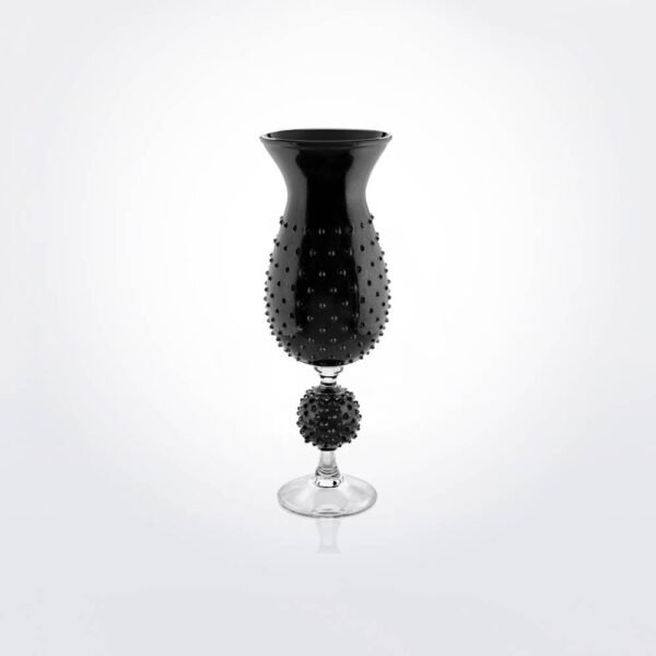 Black glass spiky vase.