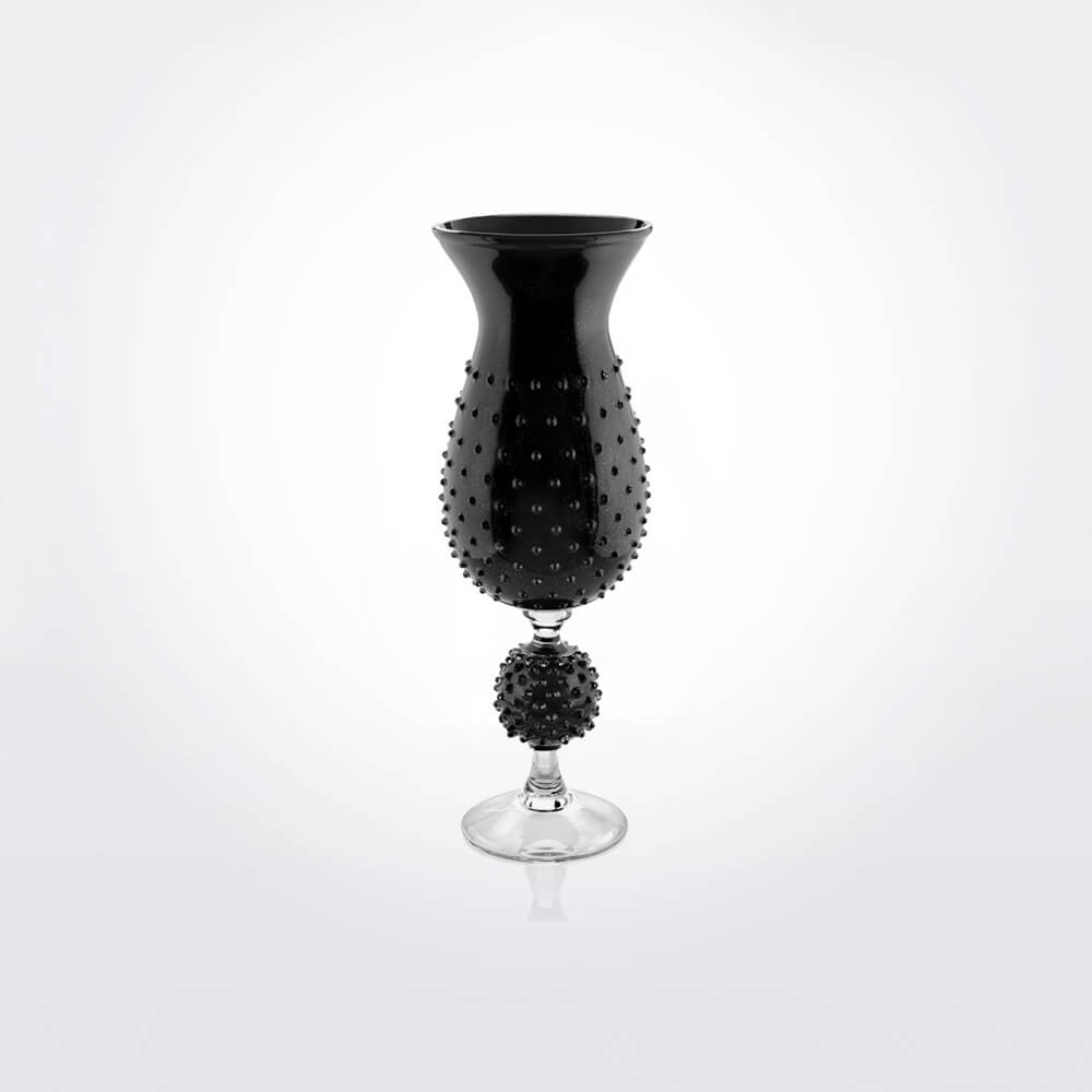 Black-glass-spiky-vase-1