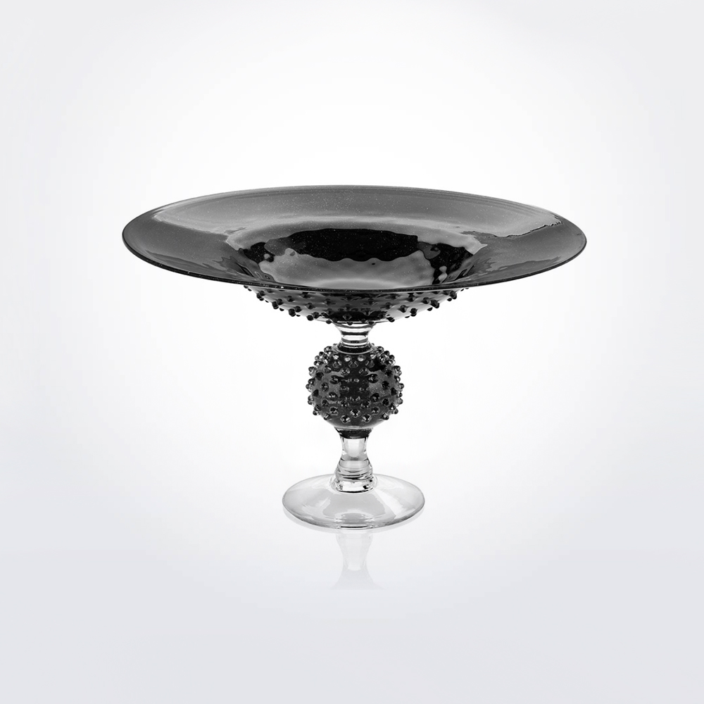 Black-glass-spiky-centerpiece-1
