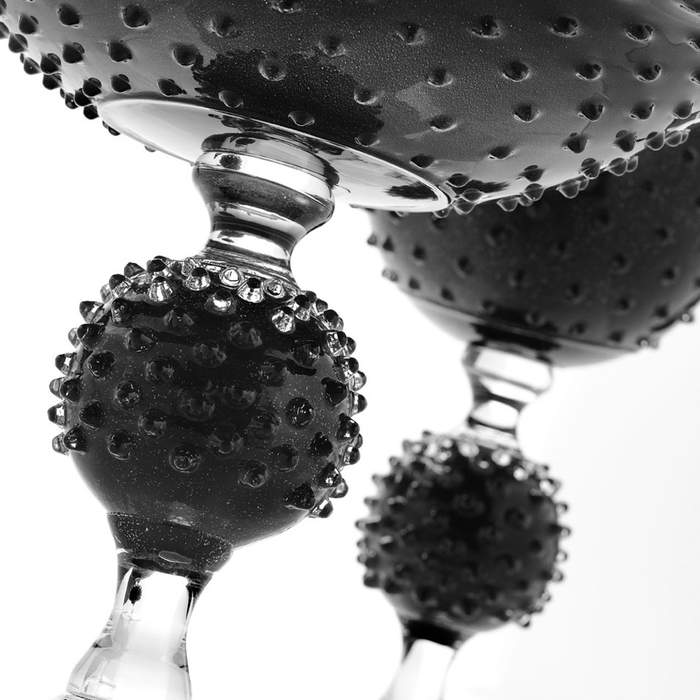Black-glass-spiky-centerpiece-2