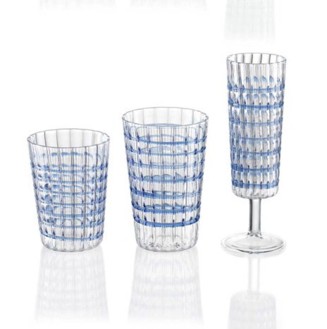 COBALT GLASS SET