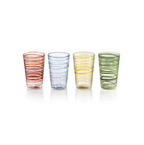 COLORED GLASS TUMBLER SET