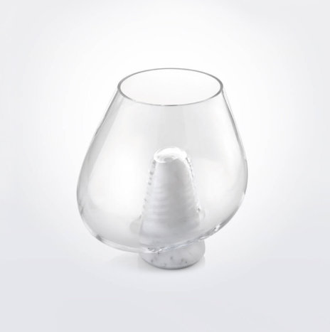 CUMULI CLEAR WHITE GLASS VASE