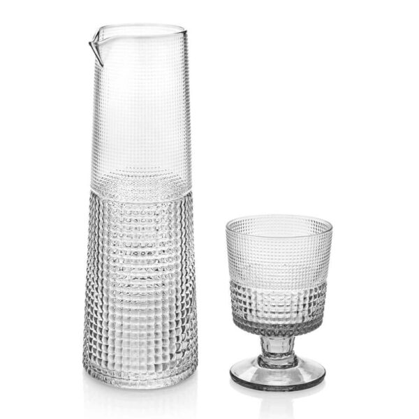 GLASS CUPS AND CARAFE SET