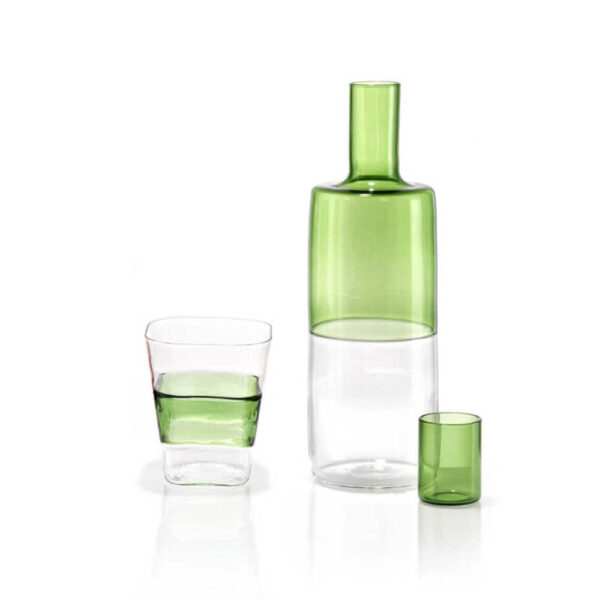 GREEN BOTTLES SET