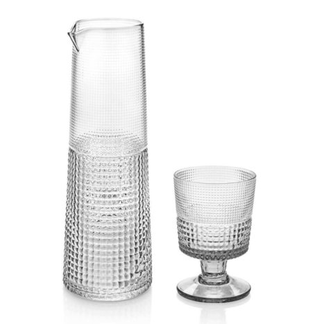 GLASS CUP AND CARAFE SET