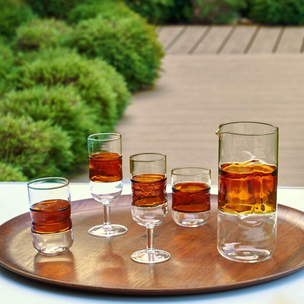 Honey-coloured-glass-set-3