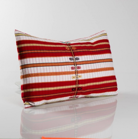 Red Patterned Pillow Cover