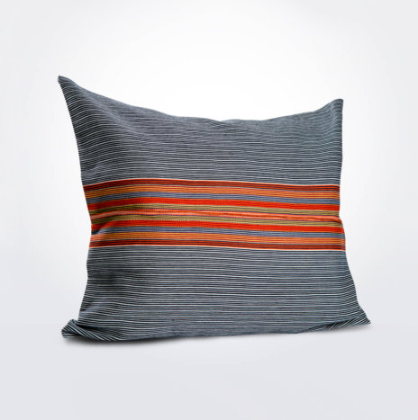 Mexican Navy & Orange Pillow Cover